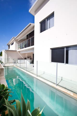 lap pool, top balcony and bbq