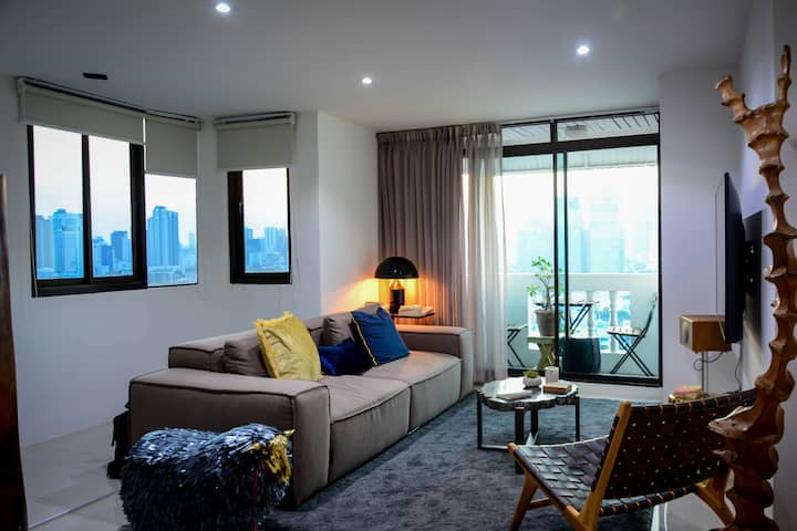 Cozy & Amazing Skyline view 60 SQM Condo@Thonglor