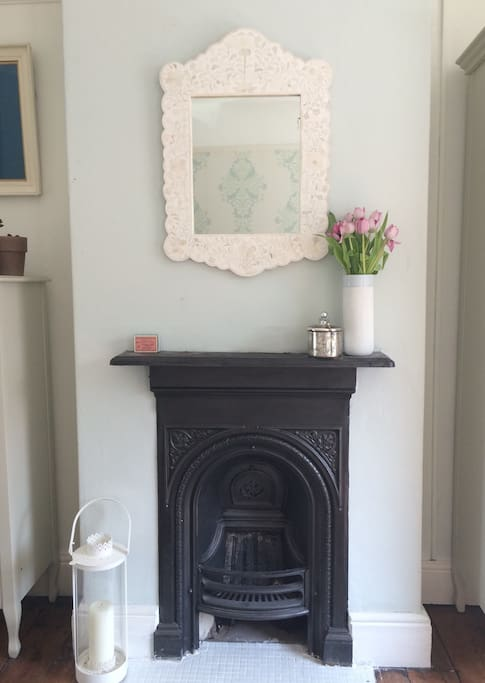Lots of period features through the house. I love this fireplace in the bedroom!