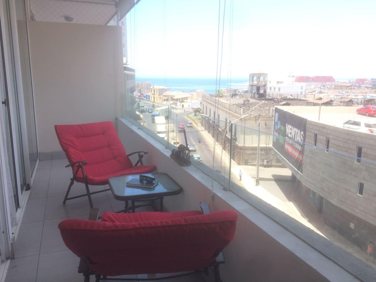 Balcón vista al puerto