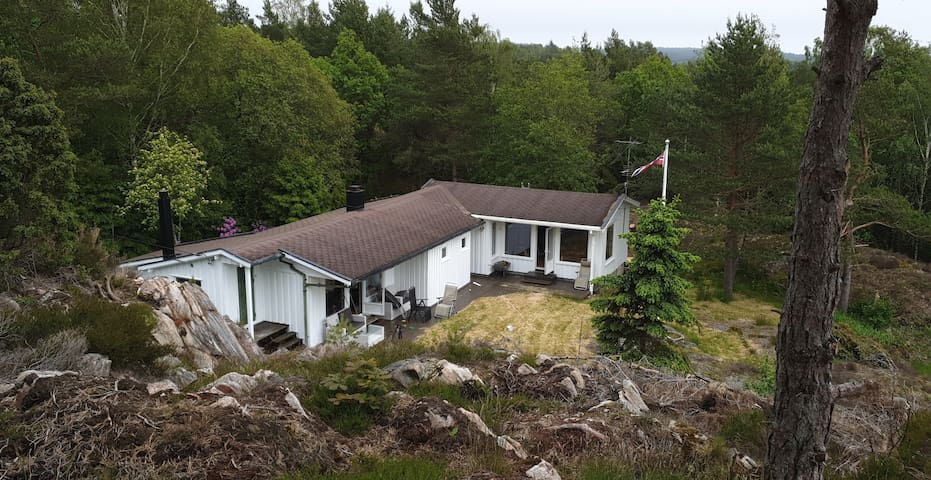 Cozy cabin close to the sea, beautiful Homborsund