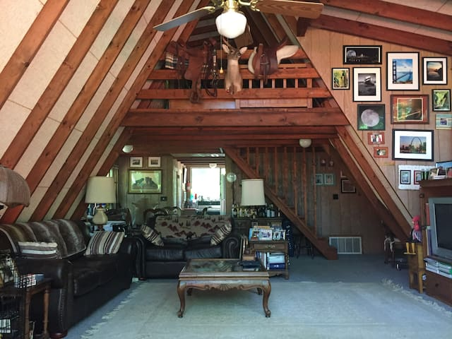 Inside view of tidy chalet