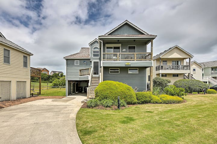 NEW! Nags Head Stilted House ~ Walk to the Beach!