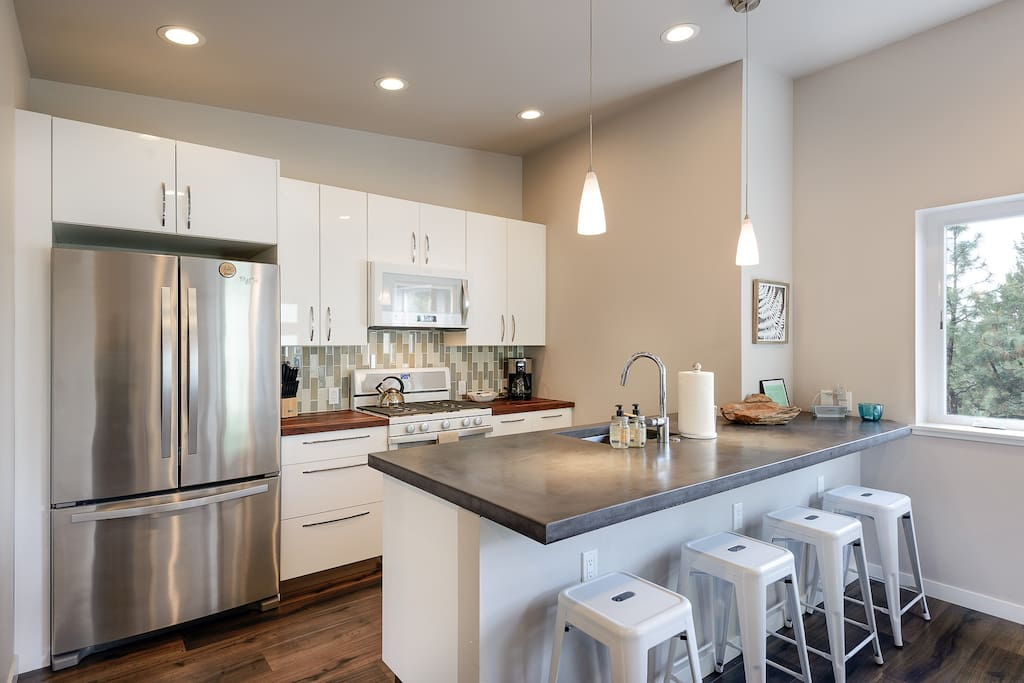 All new appliances and a fully stocked kitchen for the guest that loves to cook