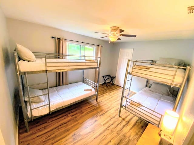 Bedroom #4:  Bunk beds to comfortably sleep 4 kids or adults.