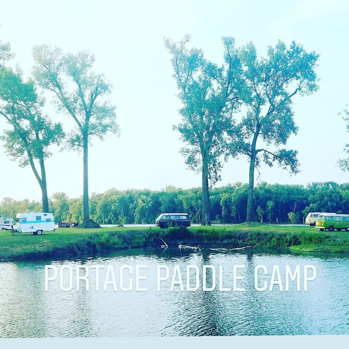 Our campground! @PortagePaddleCamp