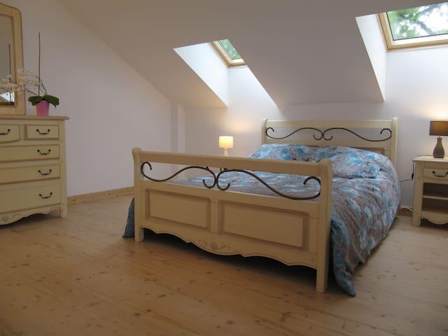 Chambre dans maison en bois du Royans- Vercors - Saint-Jean-en-Royans - Gjestehus