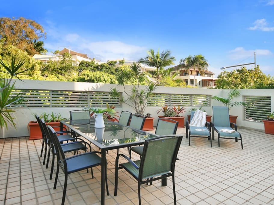 Large Private Courtyard with BBQ.