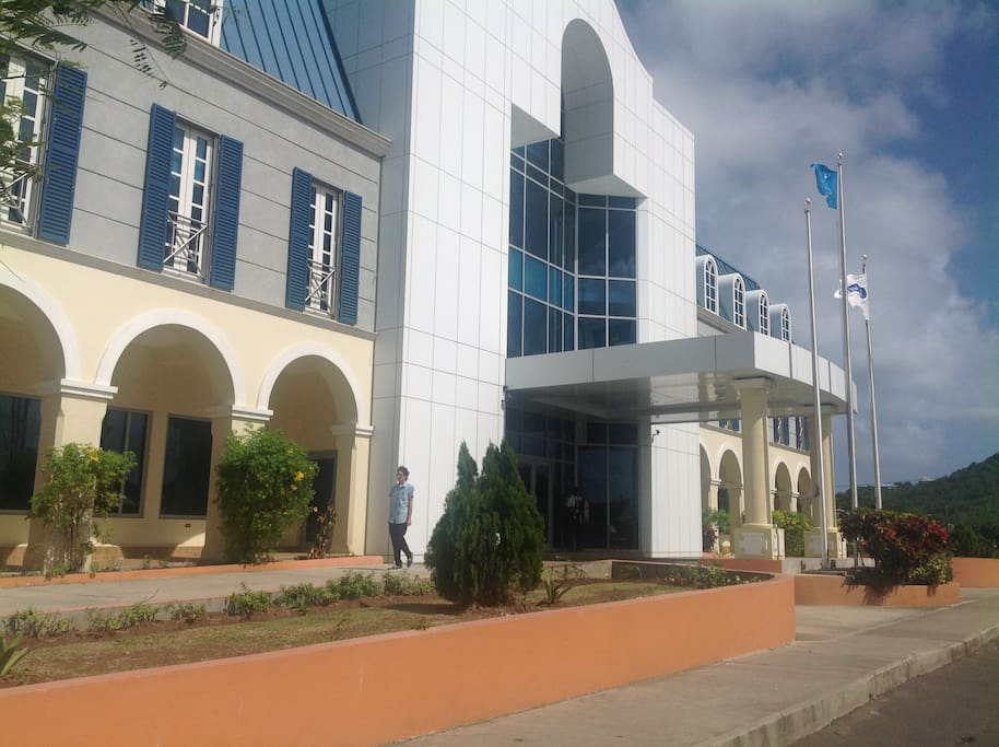 Bank of St.Lucia located 2-3 minutes walk from apartment