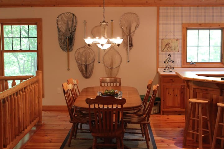Nice dining room area for meals and games