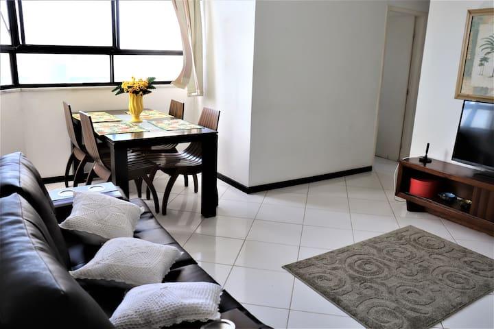 Lindo apartamento, super higienizado e ventilado