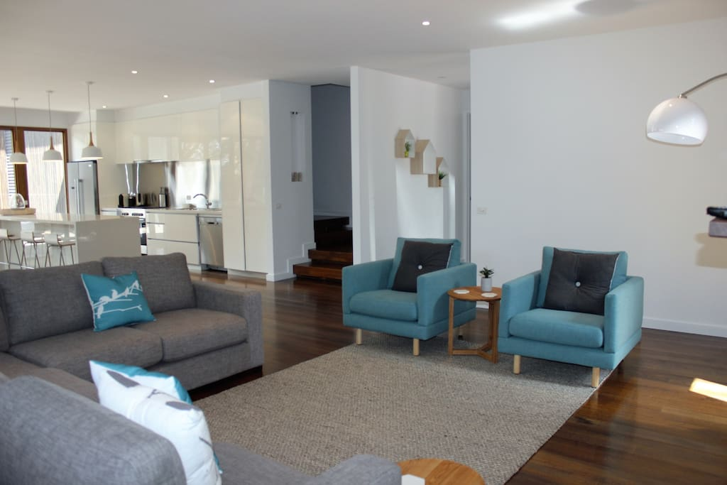 Relaxed open plan living, with room for everyone
