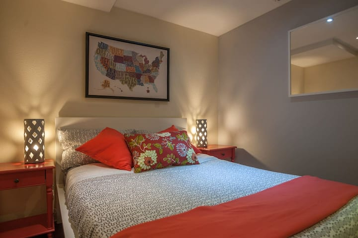 Quaint & Welcoming Bedroom with Shared Bathroom