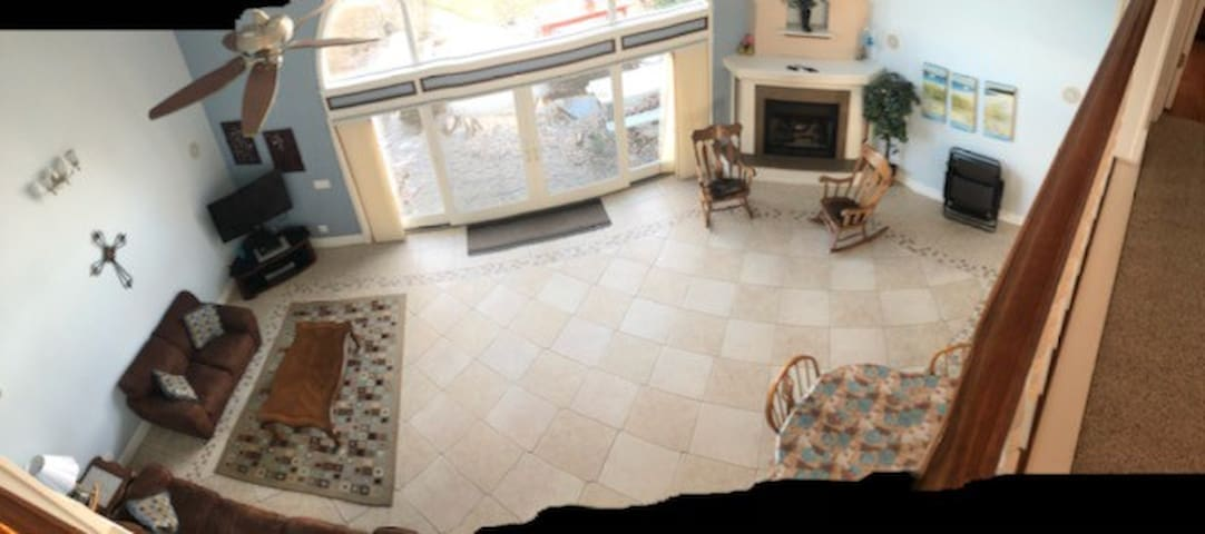 Living Area / Picture from upstairs loft balcony