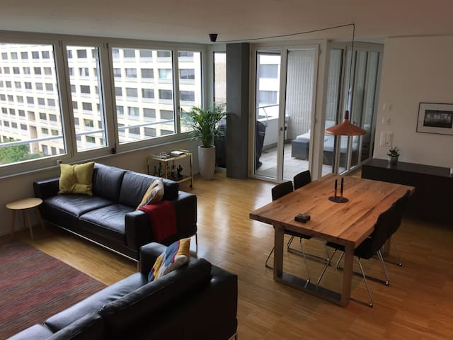 Bright and spacious loft style designer apartment - Zürich - Lakás