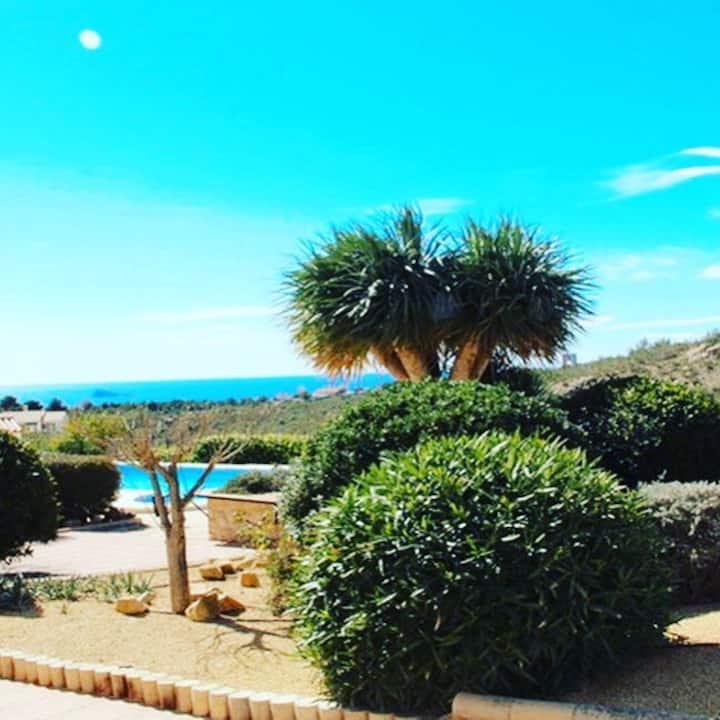 La Nucia 100m2, naast Benidorm zeezicht en zwembad