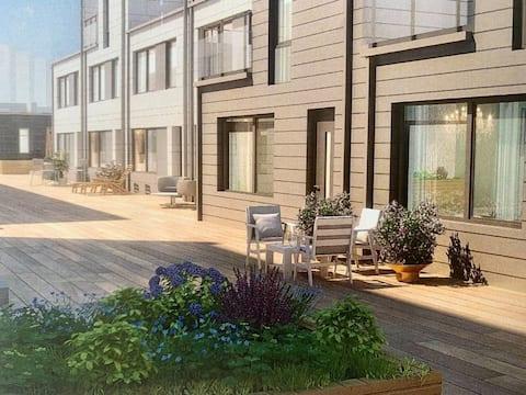 Nybyggd 1a i Solna med uteplats 7min från centrum