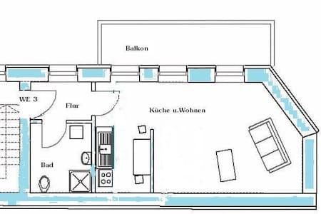 Einraumwohnung mit Einbauküche - Maagdenburg