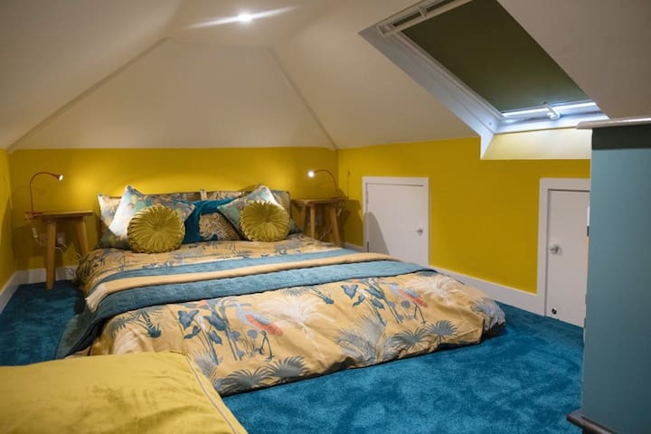 Upstairs mezzanine bedroom (not suitable for elderly or those not so agile due to the ladder stairs & low ceiling only 1.50mtrs high)