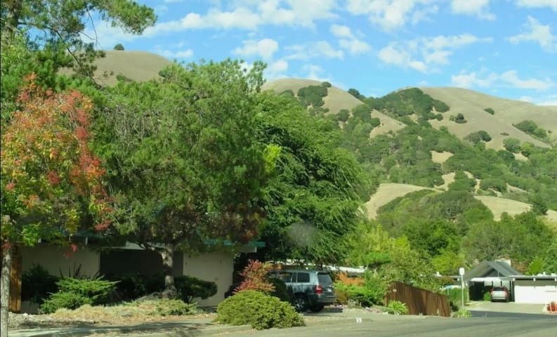 Private Entrance to Suite in scenic Lucas Valley - San Rafael - Huis
