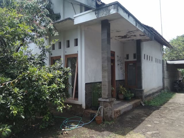 house with mountain view and people way of life