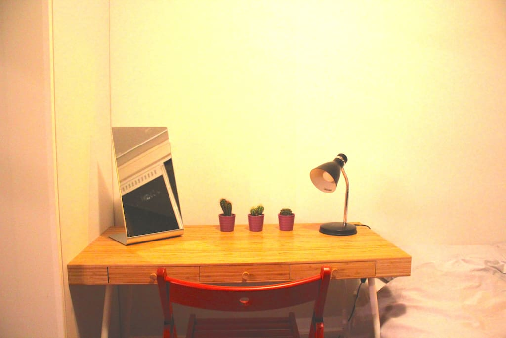 and a little desk