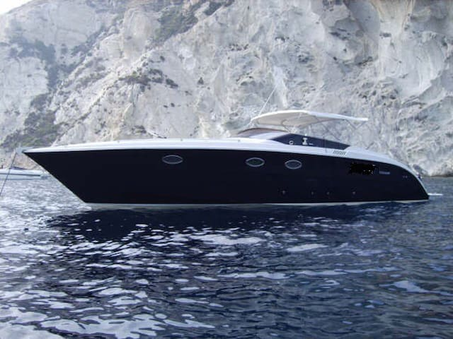 BLUES. Luxury motorboat