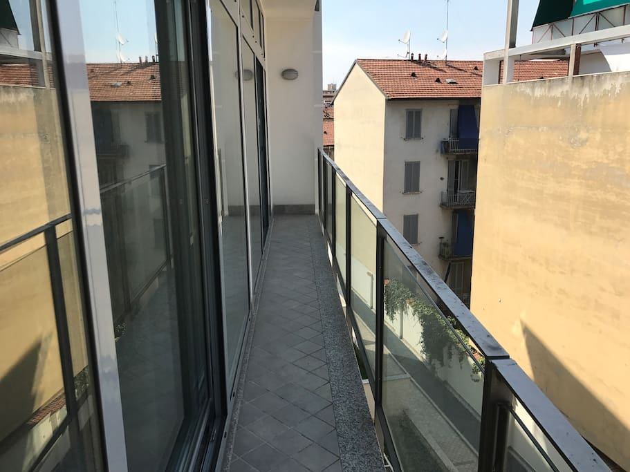 shared balcony of the bedrooms