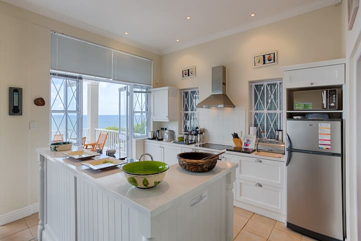 Fully Equipped Kitchen at Felsensicht Holiday Home with Sea View
