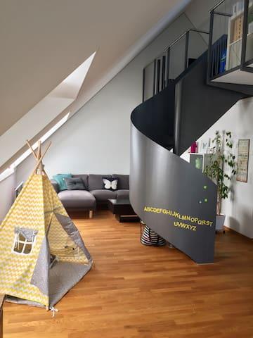 Dein Zimmer im Grünen 20' von Zürich HB mit PP - Dietikon - Apartment