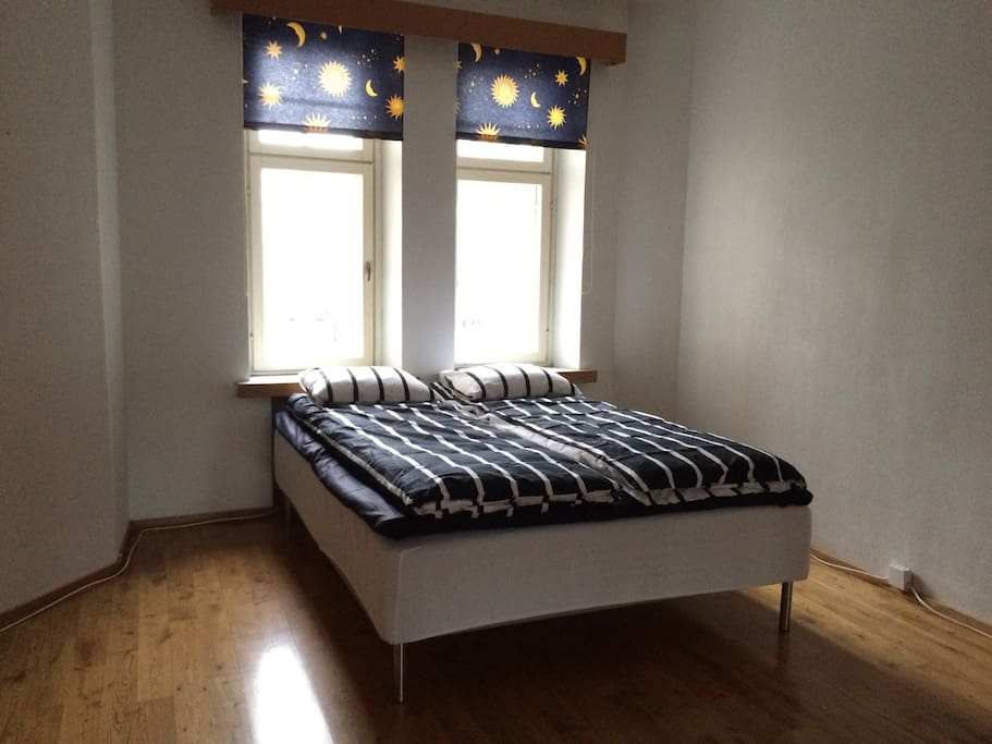 Bedroom nr 1 with one 140cm bed for two.