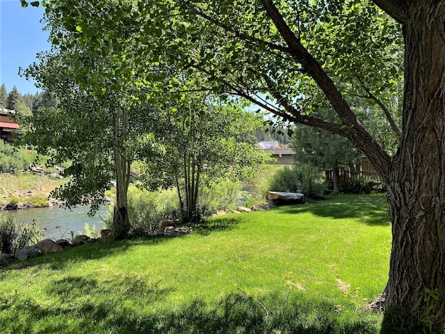 Backyard - very large lawn area and 80 feet along the river - all private property!
