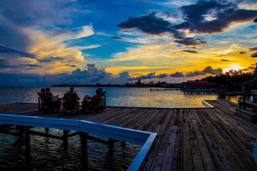 Sunset refreshments on your private dock