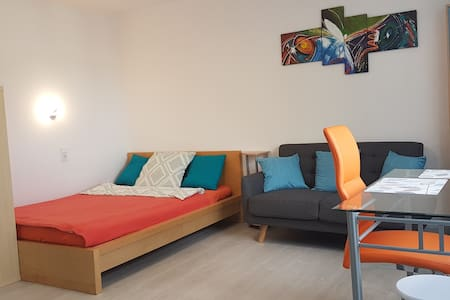 Alt Saarbrücken. Apartment mit einen große Balkon