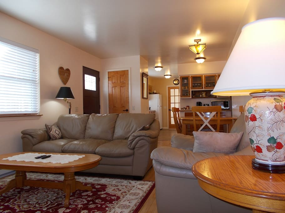It's cozy warm during the fall and winter and air-conditioned throughout the house when the weather is warm.