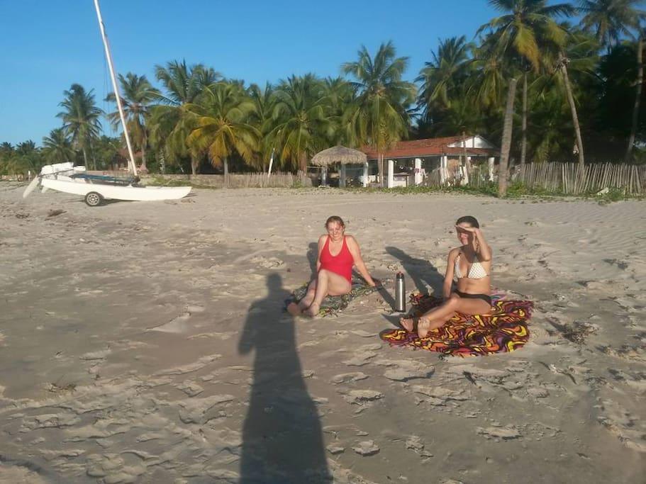 la distancia de la playa a la casa
