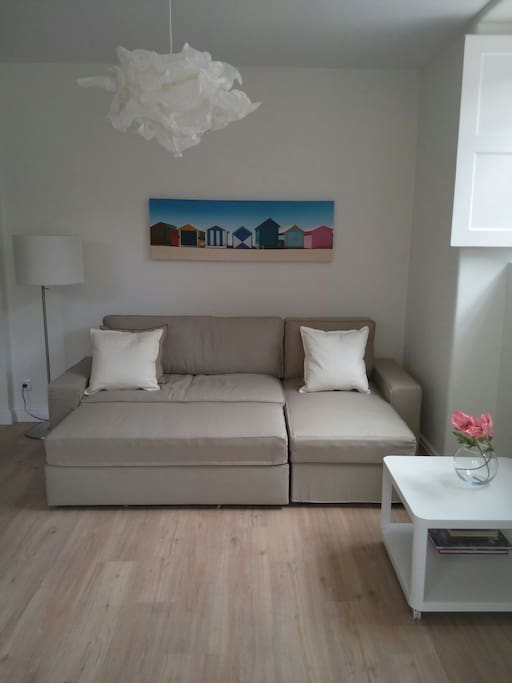 Comfy pull out sofa in lounge