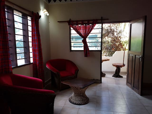Triplet room with balcon facing the pool