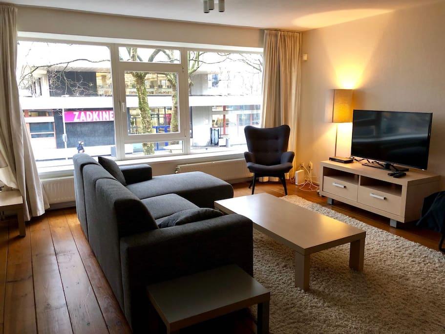 Elegant living room in city center