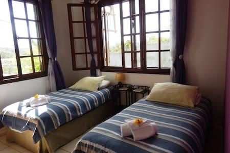 Vanuatu Rainbow Lodge/ Purple Bedroom - Port Vila