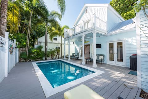 Dog-friendly getaway w/ a patio, & private pool - walk to everything