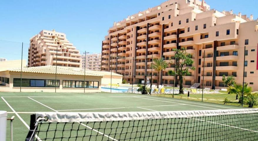Two tennis courts at your disposal