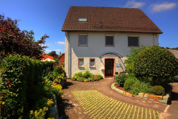Large apartment in the Teutoburg Forest with terrace, garden and garden sauna