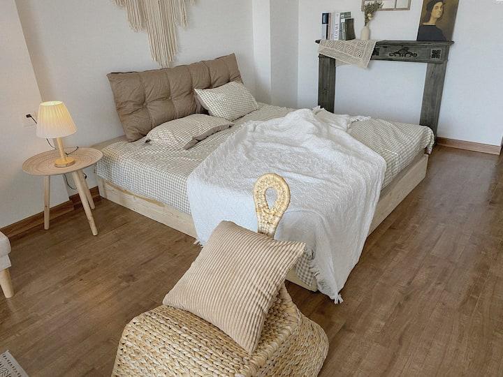 宅舍•近西街钟楼高层私享日系温馨大床房一居室