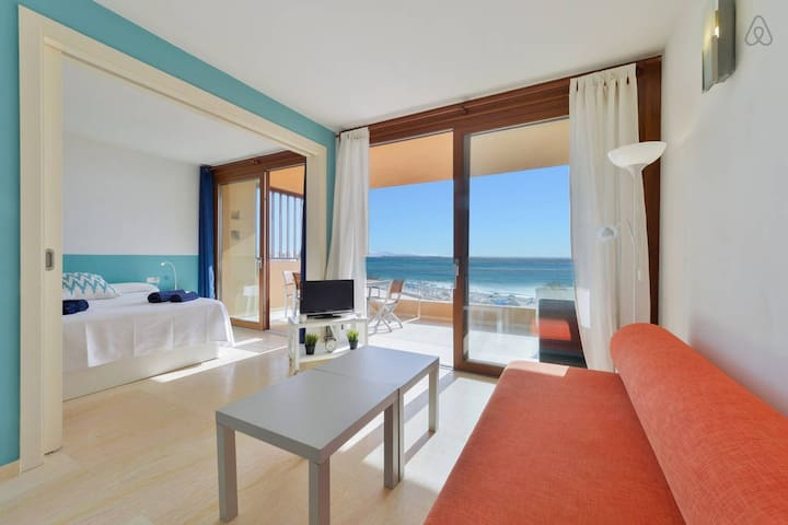 Great SEAVIEW Apt in Playa den Bossa near Usuhaia! - Sant Josep de sa Talaia
