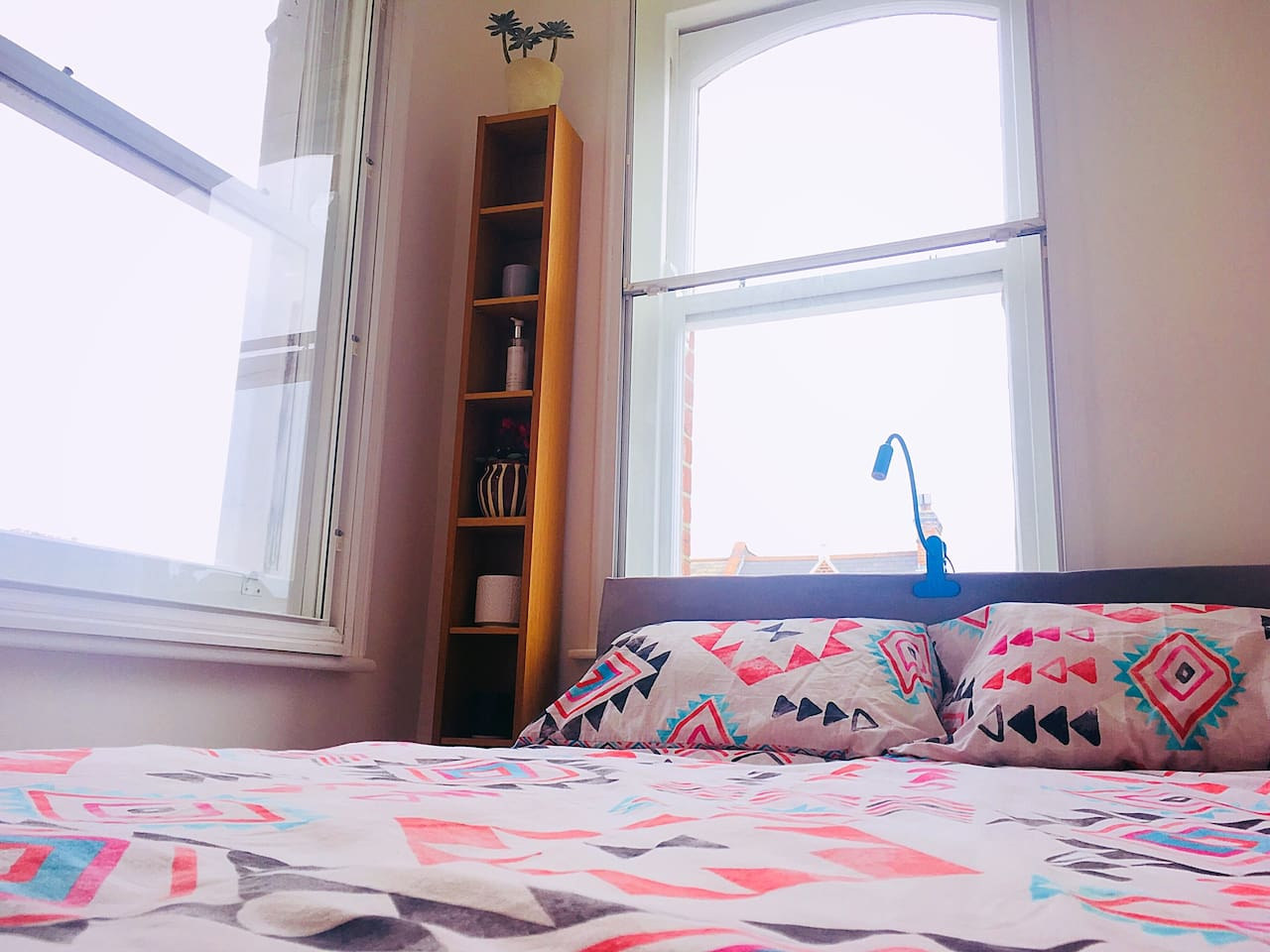 Bright double bedroom with double glazing and heating.