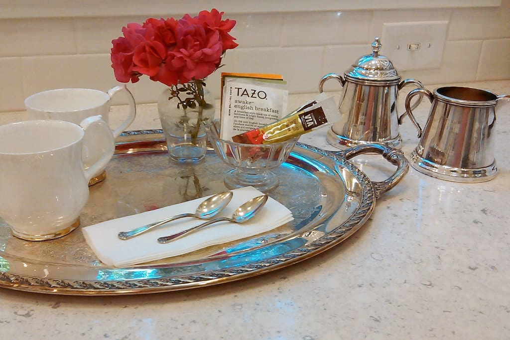 Coffee and tea for guests!