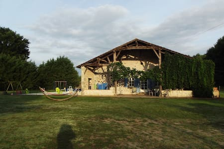 Grande ferme Landaise avec parc animalier