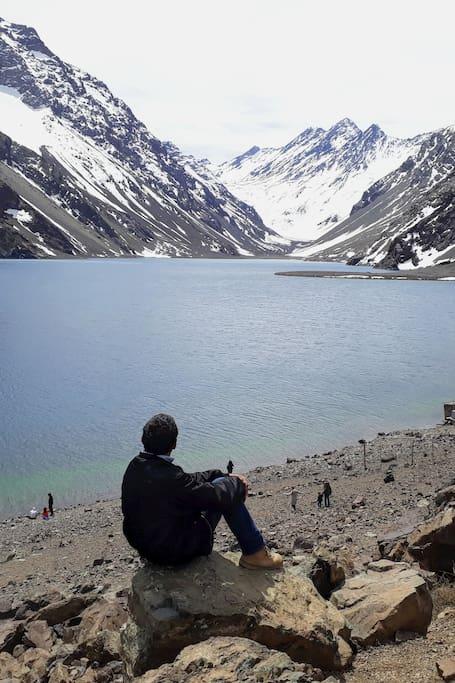 Inca Lagoon in Portillo Ski resort