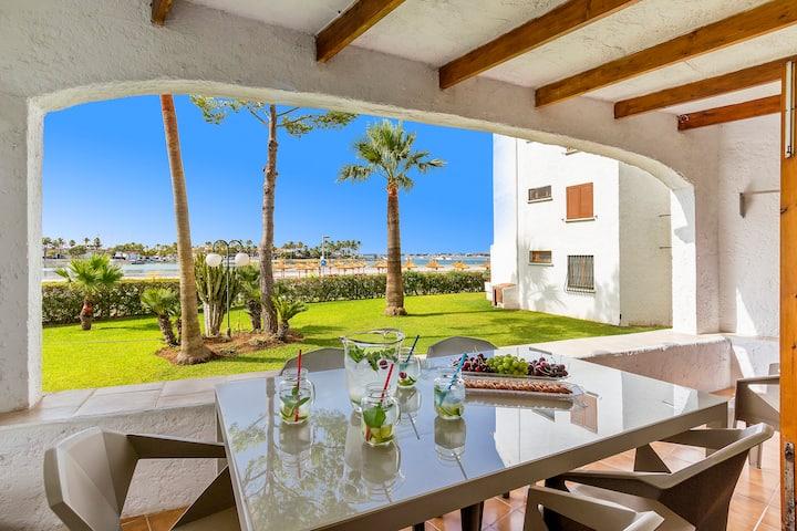 Apartamento 1ª línea playa Puerto Alcudia CRB